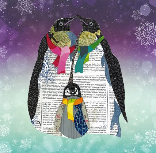 Penguins - Animal Collage by Clare Thompson