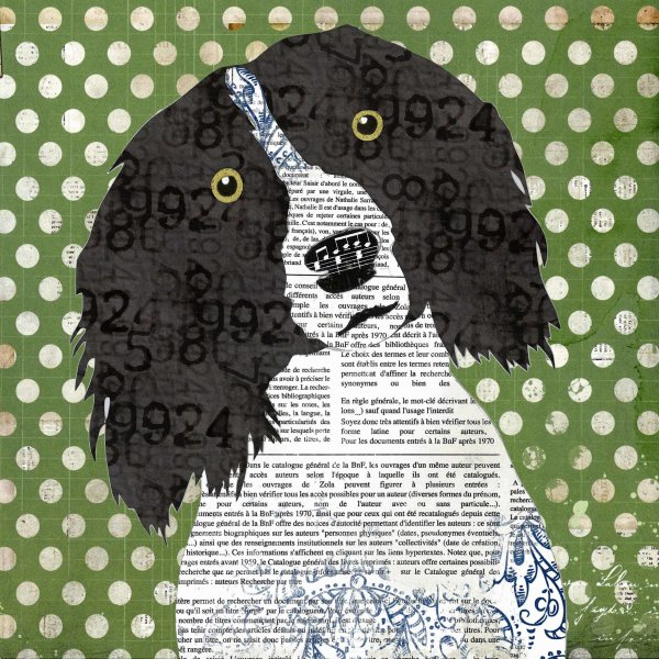 Spaniel - Animal Collage by Clare Thompson