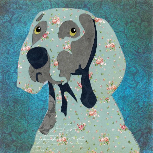 Weimaraner - Animal Collage by Clare Thompson