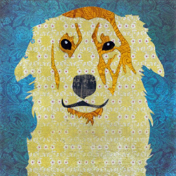 Golden Retriever - Animal Collage by Clare Thompson
