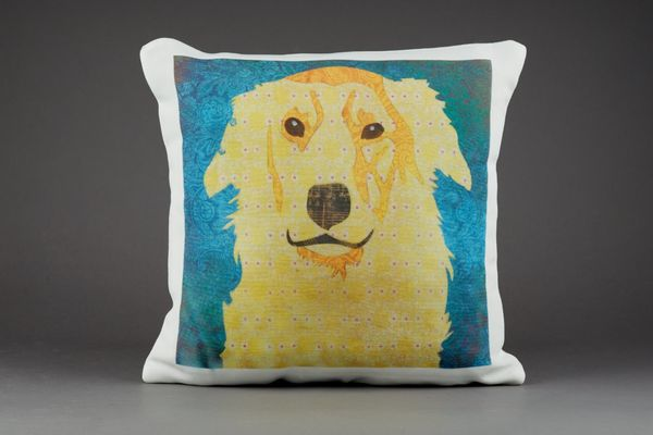 Golden Retriever Cushion by Clare Thompson