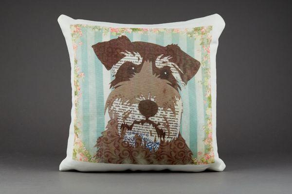 Schnauzer Cushion by Clare Thompson