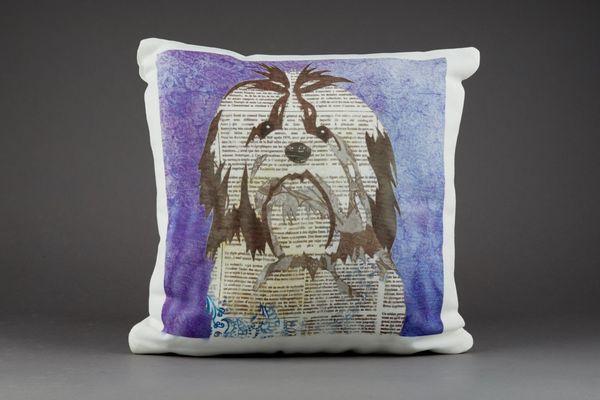 Shih Tzu Cushion by Clare Thompson