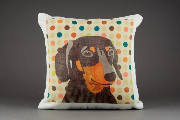 Dachshund Cushion by Clare Thompson