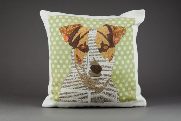 Jack Russell Cushion by Clare Thompson