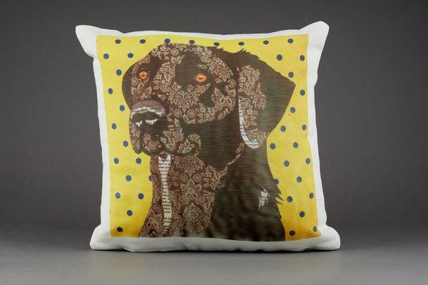 Labrador Cushion by Clare Thompson