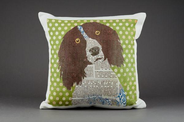 Spaniel Cushion by Clare Thompson