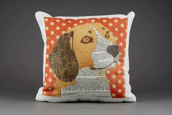 Beagle Cushion by Clare Thompson