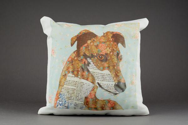 Greyhound Cushion by Clare Thompson