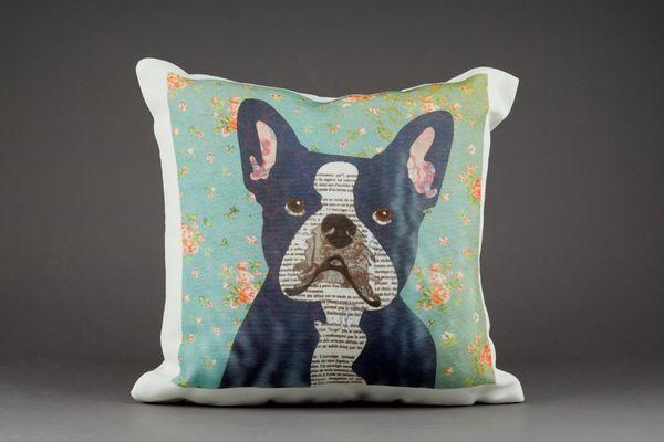 French Bulldog Cushion by Clare Thompson