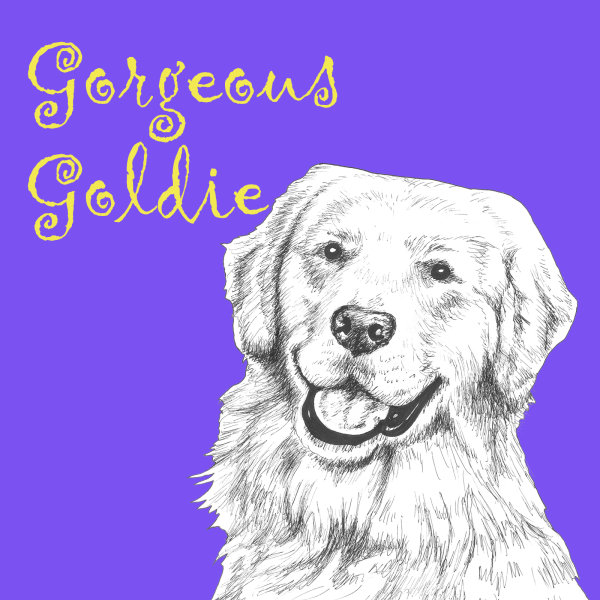 Gorgeous Goldie Golden Retriever Dog Breed Print by Clare Thompson