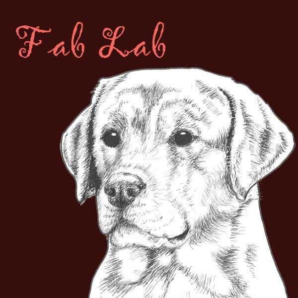 Fab Lab Labrador Dog Breed Print by Clare Thompson