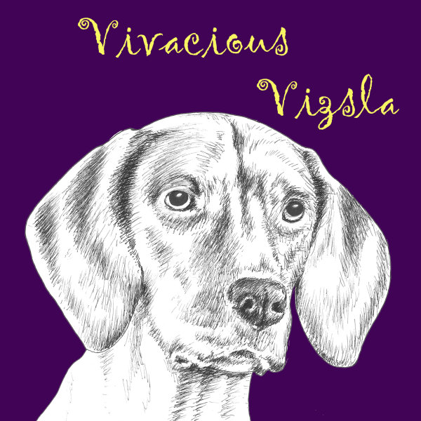 Vivacious Vizsla Dog Breed Print by Clare Thompson
