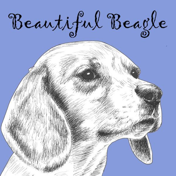 Beautiful Beagle Dog Breed Print by Clare Thompson