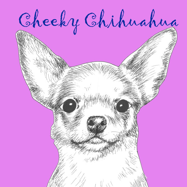 Cheeky Chihuahua Dog Breed Print by Clare Thompson