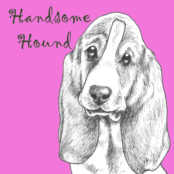 Handsome Hound Dog Breed Print by Clare Thompson