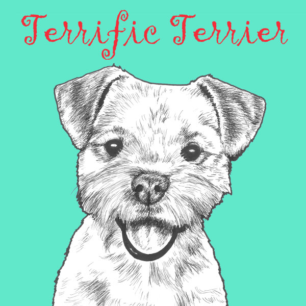 Terrific Terrier Dog Breed Print by Clare Thompson