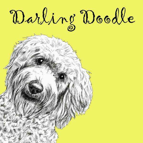 Darling Doodle Labradoodle Dog Breed Print by Clare Thompson
