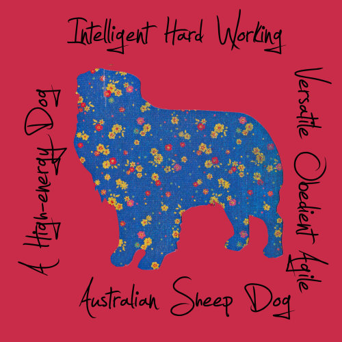 Australian Sheepdog Dog Breed Traits Print