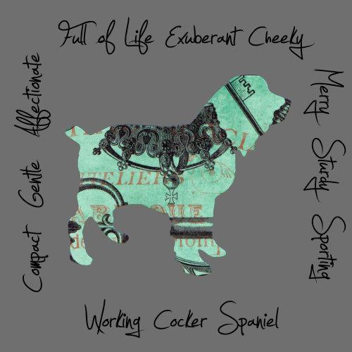 Working Cocker Spaniel Dog Breed Traits Print