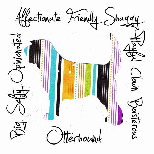 Otterhound Dog Breed Traits Print