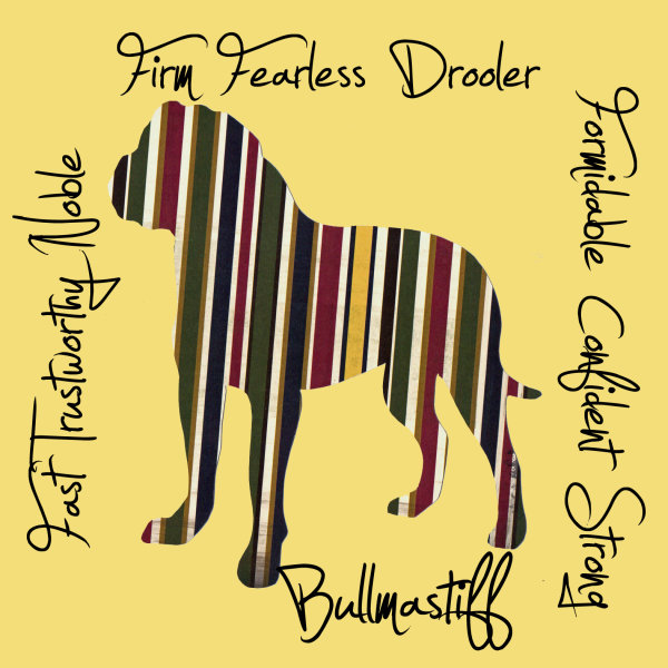 Bullmastiff Dog Breed Traits Print