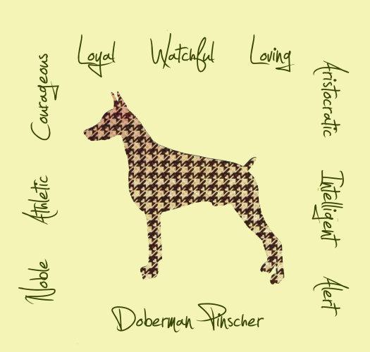 Doberman Pinscher Dog Breed Traits Print
