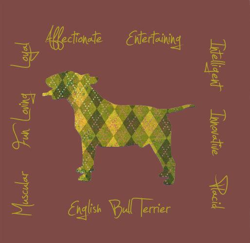 English Bull Terrier Dog Breed Traits Print