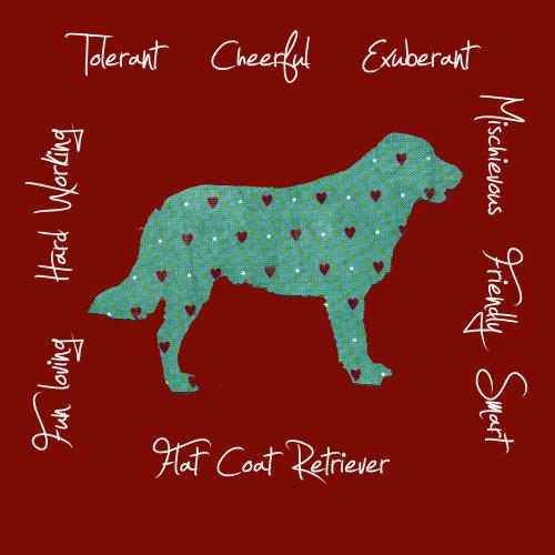 Flat Coat Retriever Dog Breed Traits Print