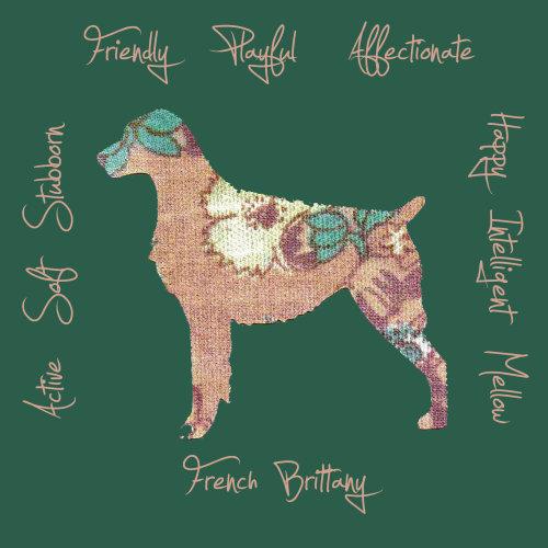 French Brittany Dog Breed Traits Print