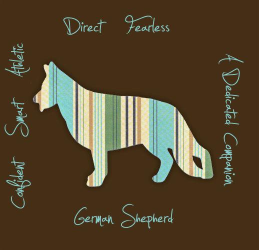German Shepherd Dog Breed Traits Print