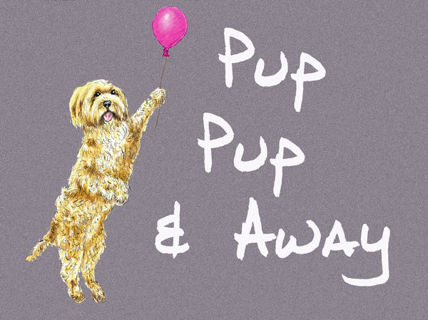 Pup, Pup & Away - Blank Card