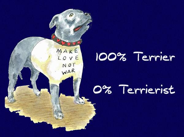 100% Terrier, 0% Terrierist - Blank Card