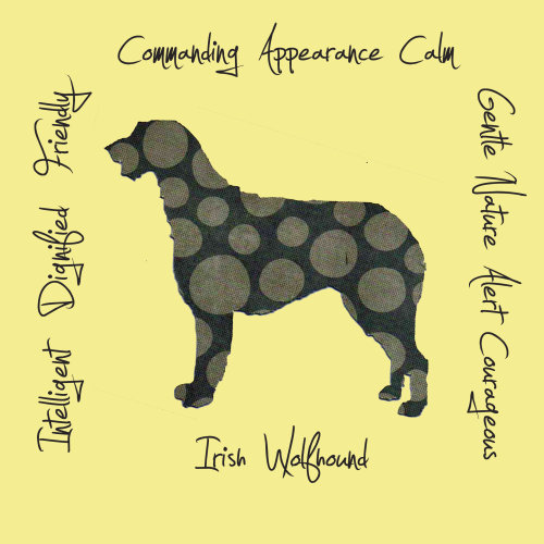 Irish Wolfhound Dog Breed Traits Print