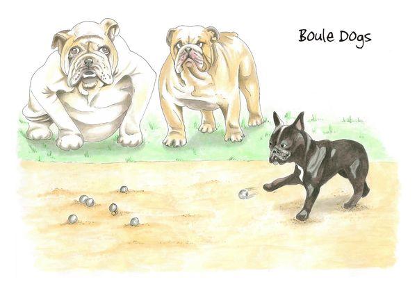 Boule Dogs - Blank Card