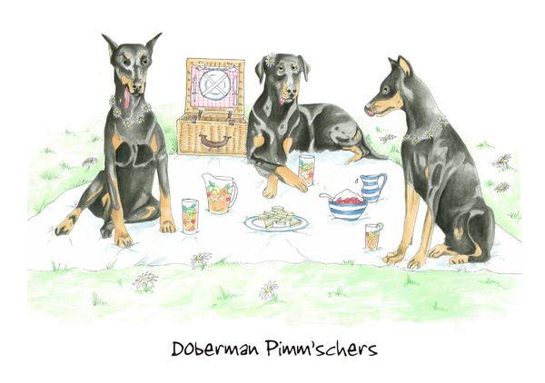Doberman Pimm'schers - Blank Card