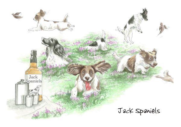 Jack Spaniels - Blank Card