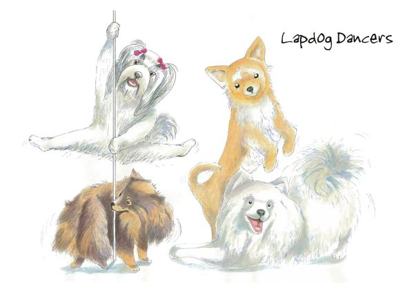 Lapdog Dancers - Blank Card
