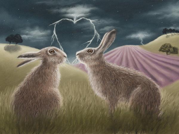 Lovestruck - Wildlife Print by Clare Thompson