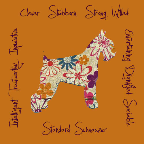 Standard Schnauzer Dog Breed Traits Print