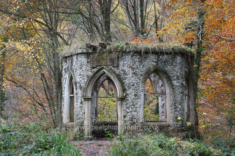 Fisher's Hall - folly Hackfall Wood near Masham North Yorkshire England UK