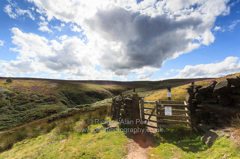 Footpath to Top Withins near Haworth West Yorkshire England UK