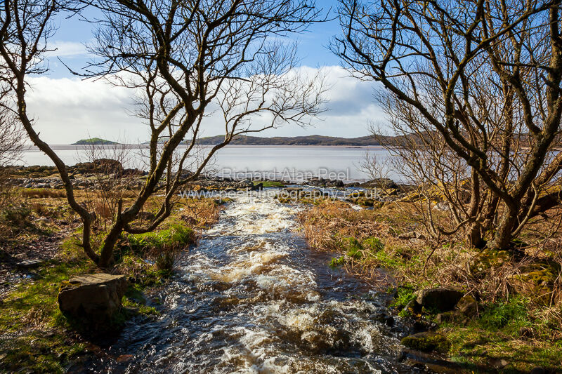 Stream flowing into Rough Firth Dumfries and Galloway Scotland UK