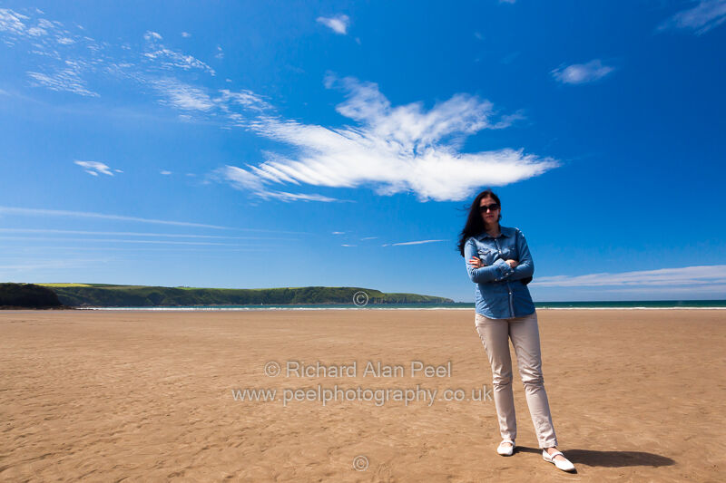 The Cloud . Beach at Broad Haven Pembrokeshire Wales UK