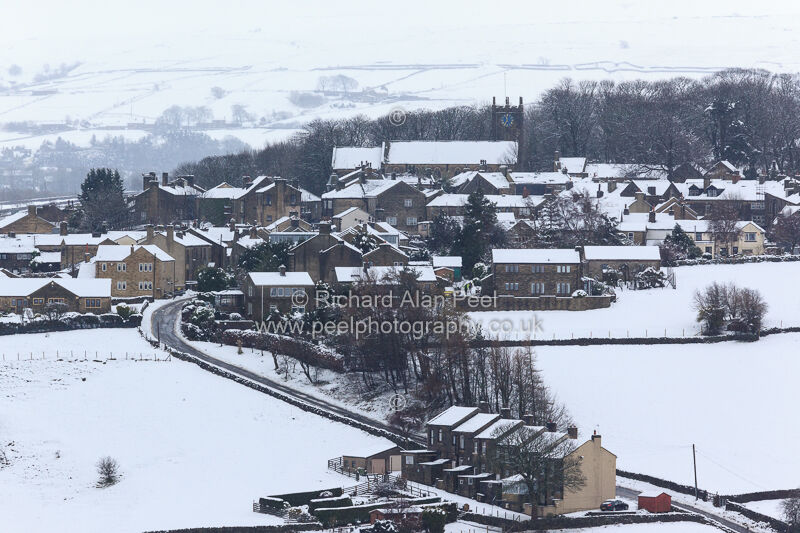 Winter Haworth West Yorkshire England UK