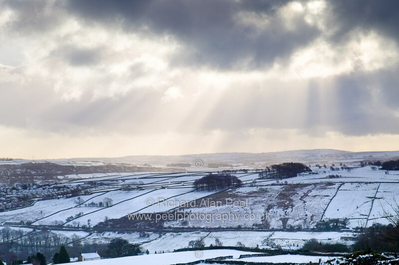 Valley of North Beck near Keighley Yorkshire England UK Winter