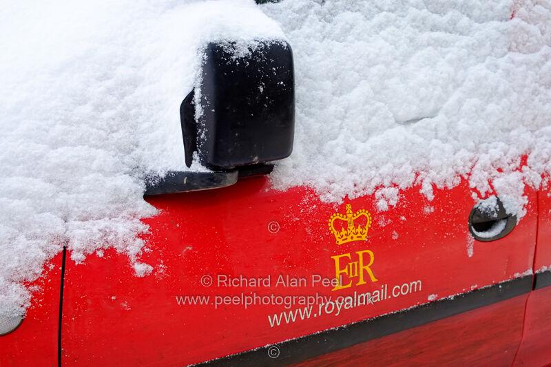 Royal Mail van and snow
