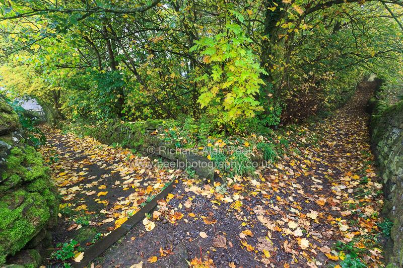 Footpaths Oakworth West Yorkshire England UK