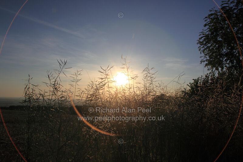 Sunset Garrowby Hill East Riding of Yorkshire England UK