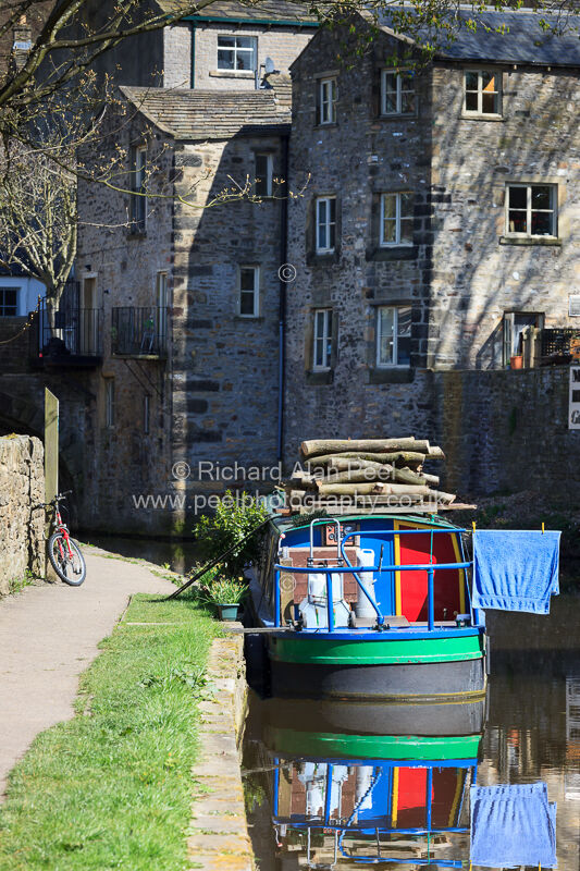 Canal boat Thanet Canal Skipton North Yorkshire UK